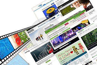 Stock photography websites Editorial Stock Image