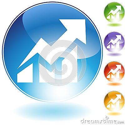 Stock Rise Icon