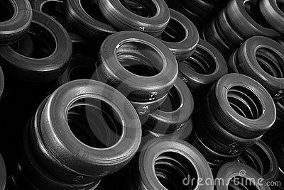 Stock tires piles