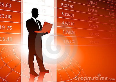 Stock trader background with  market data