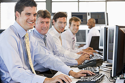 Stock Traders At Work