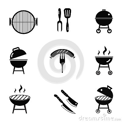Free Stock Vector Barbecue Restaurant Party Family Dinner Summer Picnic Food Symbols Icon Flat Design Template Illustration Stock Photo - 70027500