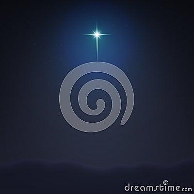 Stock vector illustration Bethlehem Star minimalistic background. The Birth of Jesus Christ EPS 10 Vector Illustration