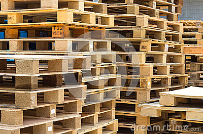 Stock wood pallet