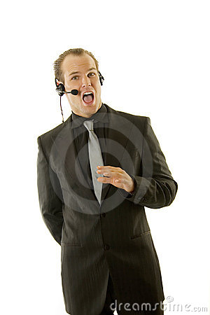 Stockbroker or customer service rep