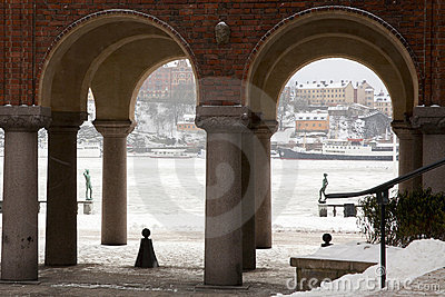 Stockholm Harbor from City Hall