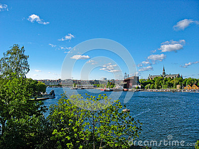 Stockholm harbour and Baltic Sea