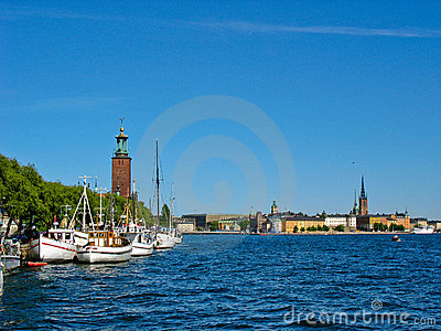 Stockholm harbour and lake Malaren