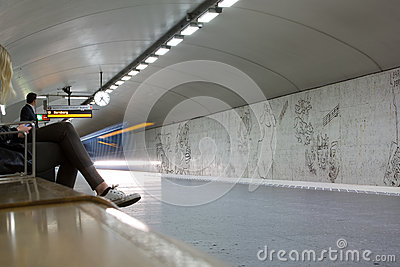 STOCKHOLM-JULY 24 : Metro station in Stockholm Editorial Stock Image
