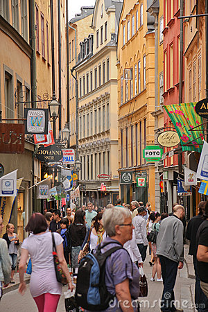 Stockholm, the old town Editorial Stock Photo