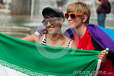 Stockholm Pride Parade 2012 Editorial Photo