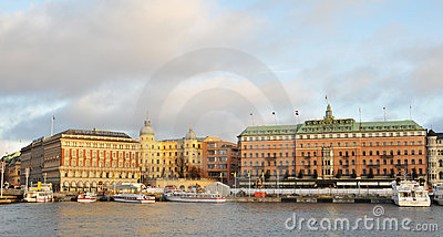Stockholm quays Editorial Stock Image