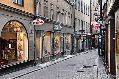 Stockholm shopping Editorial Stock Image