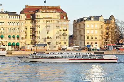 Stockholm sightseeing Editorial Stock Image