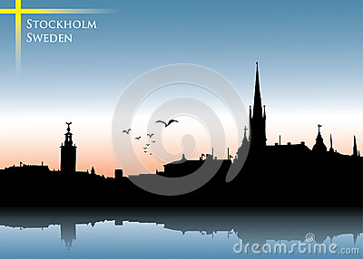 Stockholm skyline background