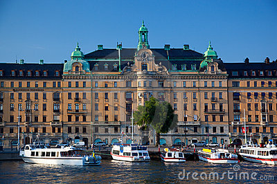 Stockholm, Sweden in Europe. Waterfront view