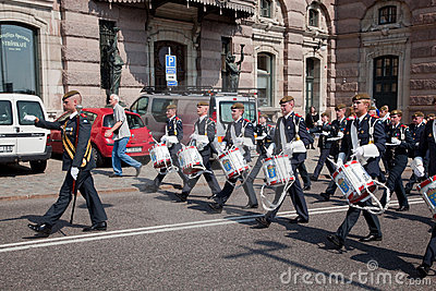 Stockholm, Sweden. A daily royal guard change. Editorial Photography