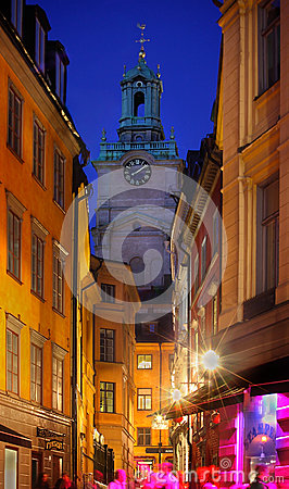 Stockholms old city Editorial Stock Image