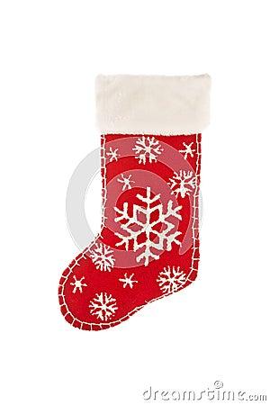 Stocking stuffer on white
