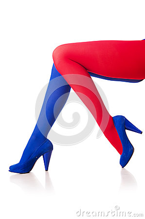 Stockings of french flag colours
