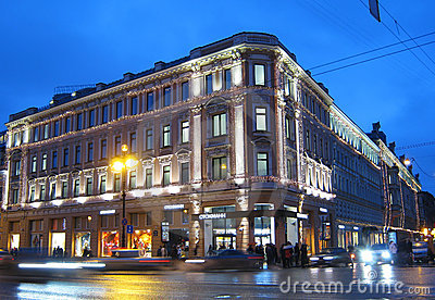 Stockmann on Nevsky. Saint-Petersburg. Russia Editorial Photo