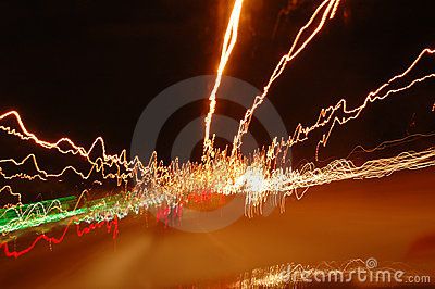 Stockphoto of haywire light trails