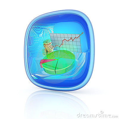 Stocks icon 3d