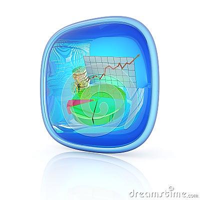 Stocks icon 3d