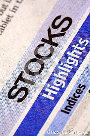 Stocks newspaper