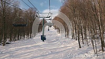 Stok narciarski Mont Tremblant z wyciągu krzesełkowego zbiory wideo
