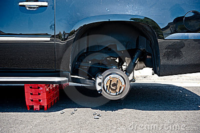 Stolen car tires