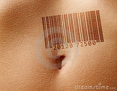 Stomach with barcode