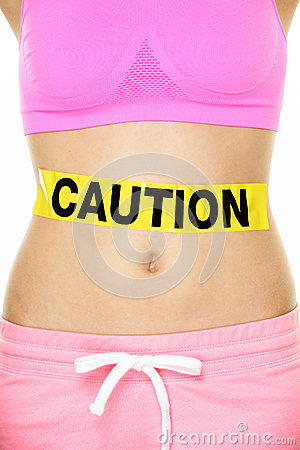 Stomach health concept showing woman belly