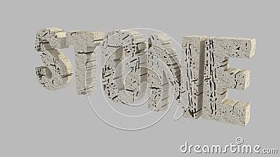 Stone 3D text