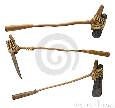Free Stone Age Axe With Clipping Path Stock Photography - 97571722