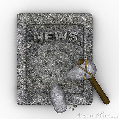 Free Stone Age Newspaper Royalty Free Stock Images - 19571729