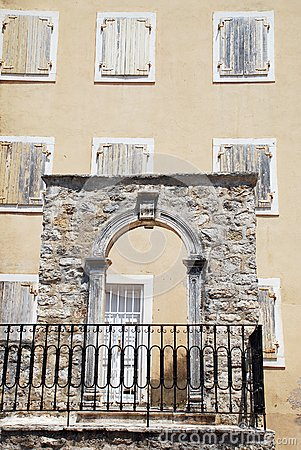 Stone arc and windows