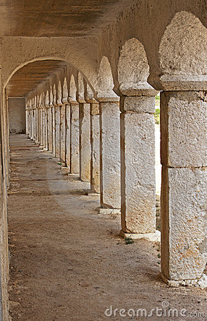 Stone arcades