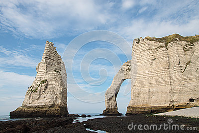 Stone Arch in Normandy coast in France