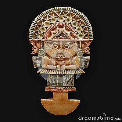Tumi ceremonial axe inca national peruvian symbol