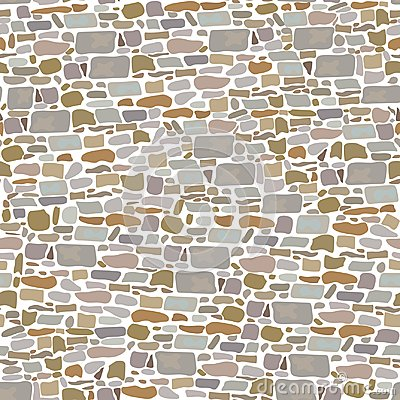 Free Stone Block Wall, Seamless Pattern. Background Made Of Wild Bricks. Grey, Red, Sand, Yellow, Brown, Stock Images - 100984694