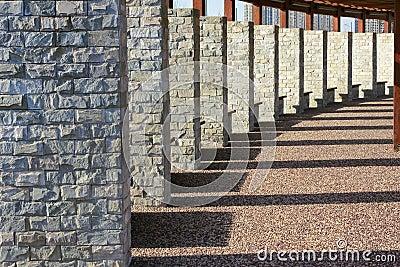 Stone brick column
