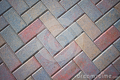 Stone Brick Patio Pavers, Colorful