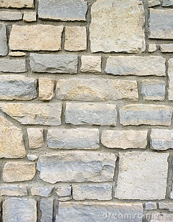 Free Stone Brick Wall Exterior With Mortar Royalty Free Stock Photography - 44070537