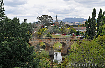 Stone Bridge And Church