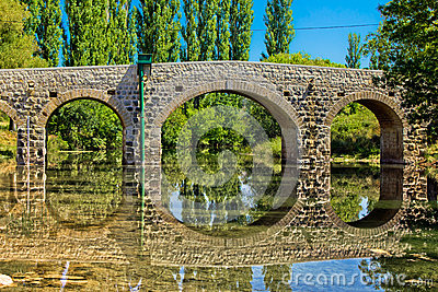 Stone bridge over Zrmanja river