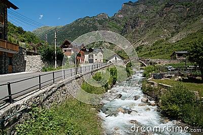 Stone bridge and small river