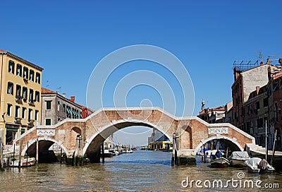 Stone bridge, Venice