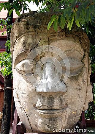 Stone Buddha face