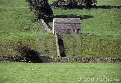 Stone building in English rural